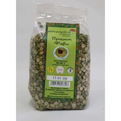 GREEN FAVA FROM DRIED PEAS...