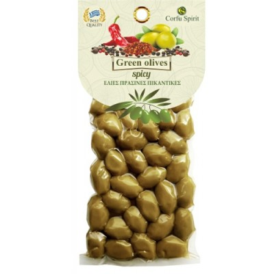 GREEN OLIVES SPICY 250g